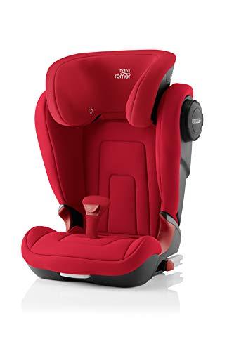 BRITAX RÖMER Siège Auto KIDFIX 2 S, avec Protections Latérales, enfant de 15 à 36 kg (Groupe 2/3) de 3.5 ans à 12 ans, Fire Red
